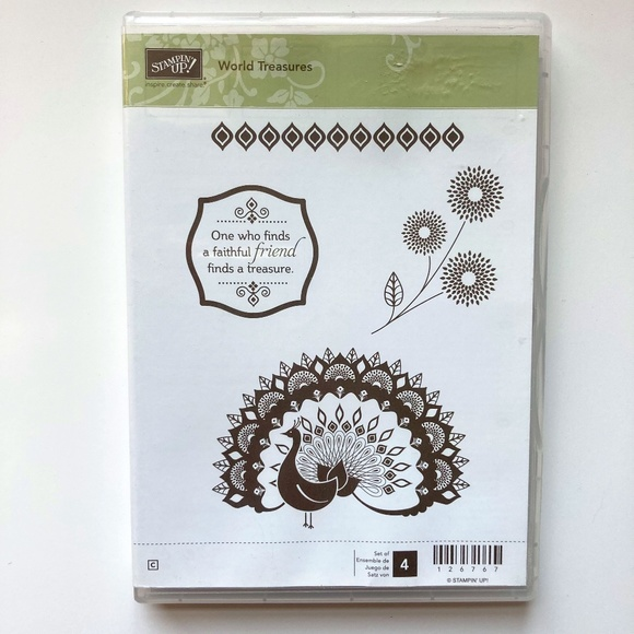 Stampin' Up! World Treasures Cling Mount Rubber Stamp Set